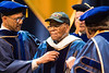 Ellis Ray Williams, Sr, a WVU alumnus and WWII veteran, was awarded an HDOC at the graduation ceremony of the College of Education and Human Services. Eligible students of CEHS attended their commencement ceremony at the Coliseum on May 11, 2019.