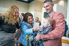Outgoing Provost Joyce McConnell celebrates with Liz Vitullo, husband Christian Schaupp and son Christian during a farewell event for McConnell at the Law School May 13th, 2019.  Photo Brian Persinger