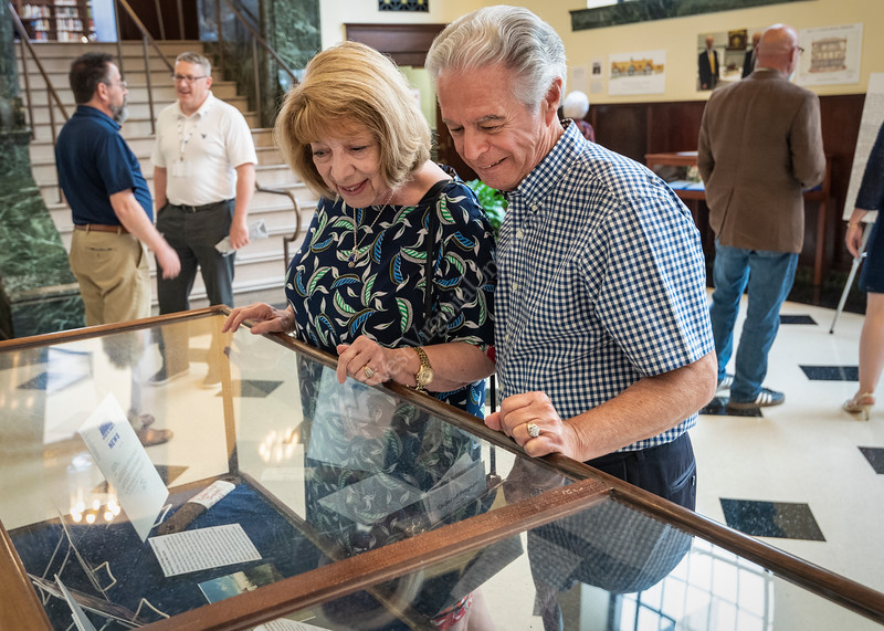 The WVU community comes together to celebrate Dr. Emory L. Kemp and his work displayed at the WVU Downton Library in the collection. The Structure of History, Celebrating Industrial Heritage and Preservation, May 31, 2019. Photo Greg Ellis
