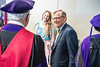 WVU President Gordon Gee enters the green room with Dr Pepper in hand prior to the College of Law Commencement at the Creative Arts Center May 10th, 2019.  Photo Brian Persinger