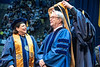 Pat Getty is awarded an honorary degree during the Eberly College of Arts and Sciences Undergraduate Commencement at the Coliseum May 12th, 2019.  Photo Brian Persinger