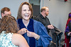 Presidential Honorary Doctoral Degree recipient Irene Keeley laughs with friends preparing for the Law School Commencement at the Creative Arts Center May 10th, 2019.  Photo Brian Persinger