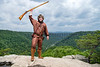 2019-2020 Mountaineer Mascot Timmy Eads poses for photographs on Long Point Trail in Fayetteville, Wv May 23rd, 2019.  Photo Brian Persinger