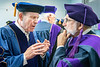 Honorary Doctoral Degree recipient Robert Fitzsimmons talks with Charles DiSalvo prior to the College of Law Commencement at the Creative Arts Center May 10th, 2019.  Photo Brian Persinger