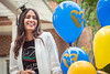 Hiba Al Hinai  enjoys time with family and friends at the International Student Graduation and Reception Erickson Alumni Center,  May 9, 2019. Photo Greg Ellis