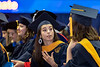 Eblery Graduate student Corrine Ahrabi – Nejad expresses her excitement for the future at the Eblery May Graduate Commencement, WVU Coliseum May 12, 2019. Photo Greg Ellis
