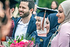 Rana Radwan poses with family for photographs after the School of Public Health Commencement at the CAC May 10th, 2019.  Photo Brian Persinger