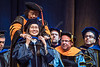 Wan Wang, a Ph.D. graduate in the Mining Engineering Department receives her hood onstage at The Statler College of Engineering Commencement at the Coliseum May 13th, 2017.  Photo Brian Persinger