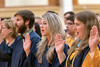 WVU Biochemistry graduate Shanna Faith Carr (center) takes the pledge of the Phi Beta Kappa honor society May 13, 2017 along with other pledges as part of the WVU commencement weekend. The Phi Beta Kappa Society is the oldest honor society for the liberal arts and sciences in the United States. Photo Greg Ellis