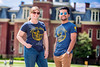 Laura Spitznogle and Nick Tabidze model the 150th Anniversary Tshirt on the downtown campus May 8th, 2017.  Photo Brian Persinger