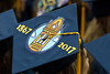 150 years WVU graduates share their thoughts and dreams atop their mortar boards at the WVU College of Education and Human Services commencement. May 13, 2017 at the WVU Coliseum. Photo Greg Ellis