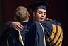 WVU President E. Gordon Gee congratulates a CAC graduate May 12, 2017.  Photo Greg Ellis