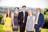 Miriam Demasi, Jessica Hogbin, Zachary Gilpin, Breellen Fleming and Adam Craig pose for photographs at The WVU Foundation's annual announcement for their Foundation Scholars at the Blaney House May 16th, 2017.  Photo Brian Persinger