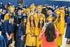 Graduates from the Bio Chemistry Department pose for a picture at The Davis College of Agriculture, Natural Resources and Design Commencement in the Coliseum on May 12, 2017. Photo Brian Persinger