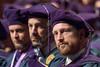 WVU College of Law graduates look on during the WVU College of Law commencement address.  May 12, 2017. Photo Greg Ellis