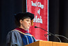 Pulitzer Prize winner for Public Service Margie Mason speaks to graduates at the Reed College of Media commencement May 12, 2017. Mason was awarded a Doctorate of Humane Letters, by the Reed College of Media. Photo Greg Ellis