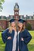 WVU graduating students pose for photographs at Woodburn Circle May 10, 2017. Photo Greg Ellis