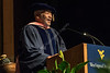 """William Harrison """"Bill"""" Withers Jr., address graduates May 12, 2017 at the CAC commencement.  Withers was awarded a Doctor of Music, by the College of Creative Arts. Photo Greg Ellis"""