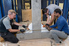 This demonstration for the news media, industry and public demonstrated how FRP composite wrapping will give old bridges and buildings new life, May 18, 2017. Photo Greg Ellis