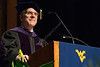 WVU College of Law Dean Gregory Bowman address graduates at the 148 College of Law Commencement May 12, 2017. Photo Greg Ellis