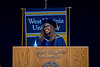 Dr. Patrice Harris addresses graduates at Commencement, May 16, 2021. Photo: Geoff Coyle