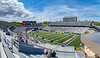 Milan Puskar Stadium hosts WVU Commencement for the first time in more than 20 years, May 15, 2021. Photo: Geoff Coyle