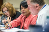 Dr. Ranjita Misra of the School of Public Health meets with the Mon County Health Department to discuss training for the accreditation process in their building  November 21s, 2017.  Photo Brian Persinger