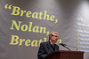 "The university screens ""Breathe, Nolan, Breathe"" and hosts a panel with the Burch family and university members in the Gluck Theater November 13th, 2019.  (WVU Photo/Brian Persinger)"