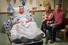 Jared Buckhalter DBS patient shares a moment with his parents Regina and Rex Buckhalter Pre-Op at J.W. Ruby Memorial / WVU Medicine Hospital November 1, 2019. (WVU Photo/Greg Ellis)
