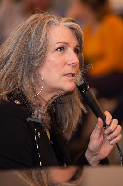 Kathy Mattea, a Grammy-winning country and bluegrass artist, visited WVU and spoke with students - critiquing their voices and sharing experiences from her past. The MasterClass was held in the Museum education center on October 31, 2019. (WVU Photo/Hunter Tankersley)