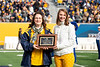 Debbie Koon-Friel recieves the Most Loyal Staff Mountaineer. Most Loyals awards were given out during half time of the WVU vs Texas Tech game on November 9, 2019. (WVU Photo/Parker Sheppard)