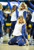 Dance team member, Taylor Frame, dances during halftime of the basketball game. WVU's basketball team took on Akron November 8, 2019. (WVU Photo/Parker Sheppard)