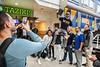Beard Growing Champion Connor Nelson is lifted while celebrating with friends after the Beard Growing Finals at the Mountainlair November 6th, 2019.  (WVU Photo/Brian Persinger)