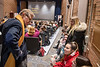 """The university screens """"Breathe, Nolan, Breathe"""" and hosts a panel with the Burch family and university members in the Gluck Theater November 13th, 2019.  (WVU Photo/Brian Persinger)"""
