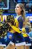 WVU cheerlearders rally fans during Men's Basketball action vs Northern Colorado November 18, 2019. (WVU Photo/Greg Ellis)