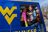The WVU Mountianeer , WVU students, staff and Middle School students from Warrensville Heights Middle School Warrensville, OH set the Mountaineer Week 2019 PRT Cram record at 51 people, beating the WVU SGA by 20. The students from Warrensville were on a tour of WV Colleges and Universities. November 4, 2019. (WVU Photo/Greg Ellis)