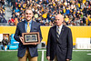 Kevin Berry recieves the Most Loyal Faculty/Professional Staff award. Most Loyals awards were given out during half time of the WVU vs Texas Tech game on November 9, 2019. (WVU Photo/Parker Sheppard)