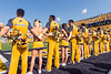 WVU Football went head to head against Kansas on October 6th, 2018 at Milan Puskar Stadium. The game ended with a win for WVU, 38-22. Fans participated in the WVU Gold Rush event being held during this game, resulting in a crowd of golden people.