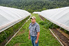 Fritz Boettner at Sprouting Farm in Talcott, WV.<br /> 34546 WVU Food Story<br /> WVU Photo/ Raymond Thompson<br /> WVU Magazine
