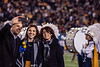 Mia Antinone poses for a selfie with her family during the Mr. and Mrs. Mountaineer presentation during halftime of the Baylor football game on Mountaineer Field Oct. 25th, 2018.  Photo Brian Persinger