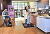 (LtoR) Jacob Taylor, Katherine Scasbro, Xavier Williams, enjoy cookies and ice cream at Insomnia Cookies University Place Sunnyside September 6, 2017. Photo Greg Ellis