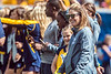Head Coach Nikki Izzo-Brown is recognized with the rest of the Women's Soccer team on the field between quarters as The Mountaineers play Eastern Carolina University in Morgantown, September 9th, 2017.  Photo Brian Persinger