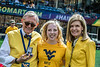National Rifle champion and Olympic Gold medalist Ginny Thrasher poses for photographs as The Mountaineers play Eastern Carolina University in Morgantown, September 9th, 2017.  Photo Brian Persinger