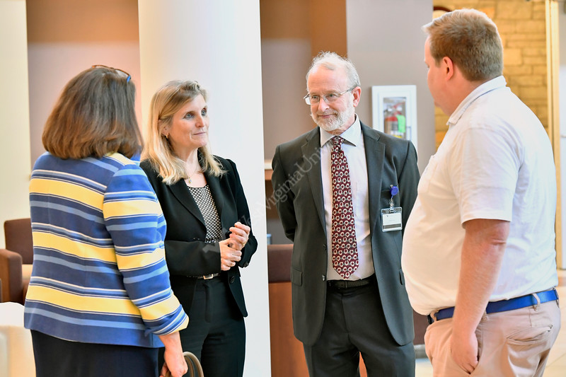 Deborah Schrag, MD, MPH Chief, Division of Population Sciences, Department of Medical Oncology Senior Physician at the DANA-Farber Cancer Institute lectures and interacts with members of the WVU medical and academic community September, 21 2017 on the HSC campus. Photo Greg Ellis