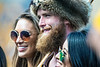 WVU Mountaineer mascot Troy Clemons poses for photographs with fans as The Mountaineers play Eastern Carolina University in Morgantown, September 9th, 2017.  Photo Brian Persinger