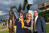 Family, friends, and the WVU community gather for the Milan Puskar statue dedication September 8, 2017. Photo Greg Ellis