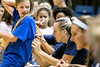 Child Development and Family Studies major Macy McElhaney signs a fans shirt after the WVU Volleyball match versus Texas at the Coliseum, September 29th, 2018.  Photo Brian Persinger
