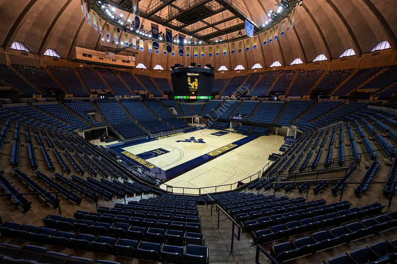 The Coliseum floor September 30th, 2019.  (WVU Photo/Brian Persinger)