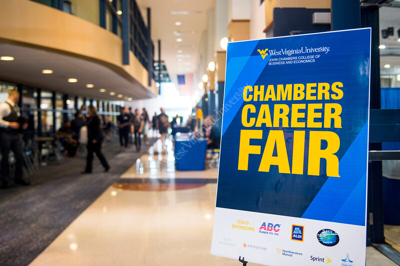 Students talk to employers at the Chambers College Career Fair on September 11, 2019 at the Student Rec Center. (Photo/Parker Sheppard)