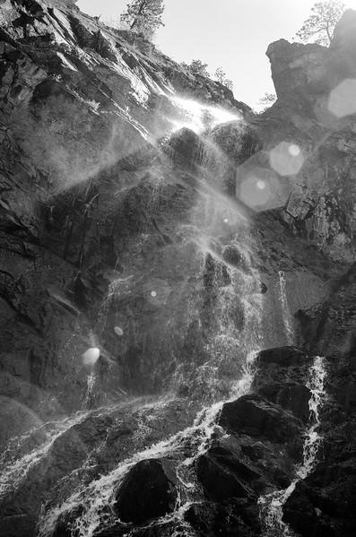 Bridal Veil Falls Black & White